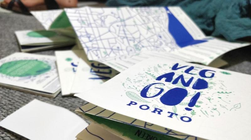 O primeiro mapa impresso da baixa vegetariana do Porto!